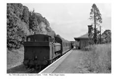 Hatch. No. 7436 & train for Taunton. 7.9.60 (Roger Joanes) Tags: railways england blackwhite greatbritain hatch