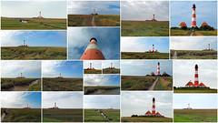 Leuchtturm Westerhever Collage (niebergall.thomas) Tags: europa deutschland schleswigholstein sanktpeterording nordsee dithmarschen