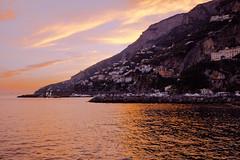 sunset in Amalfi coast, Italy