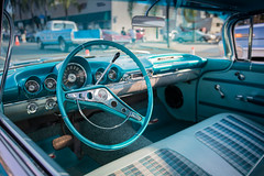Bench Seat and Metal Dash: 1959 Chevrolet Impala (Photos By Clark) Tags: subjects california vehicles canon5div unitedstates location northamerica canon1740 locale places where escondido us wheel lightroom thesandiegoist blue metal plad seat bench 1959 impala chevy restored collectable