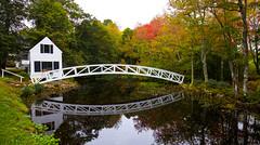 Selectmen's Building c.1780 (KC Mike Day) Tags: bridge reflection town hall meeting selectmen c1780 maine harbor bar stream pond