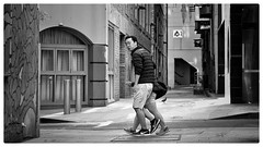 Alleys of your mind, paranoia right behind (gro57074@bigpond.net.au) Tags: september2018 surprised candideyecontact streetphotography street 105mmf14 artseries sigma d850 nikon monochrome blackwhite bw haymarket cbd sydney thedirtbombs alley alleyways