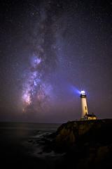 8J8A8711 (hanif khosravi) Tags: lighthouse milkyway stars astrophotography night nightphotography longexpo longexposure california pacific water sea