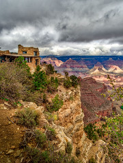 Lookout Studio (Geoff Eccles) Tags: autumn color cloudy canyonland tourist fall light southrim grandcanyon sunrays travel clouds photography lip colours arizona shadows tourism edge lookoutstudio