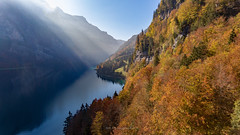 Autumn is here! (Silvan Bachmann) Tags: switzerland swiss suisse klöntal autumn colors leaves sun sunrays lake breathtakinglandscape ngc drone dji phantom october
