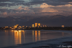 Anchorage Sunset (funtor) Tags: reflection city anchorage alaska usa sunset light color water