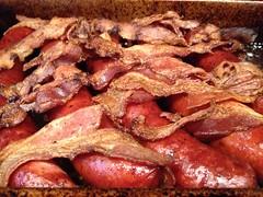 Brunch ... Hungry ? (Mr. Happy Face - Peace :)) Tags: canadianbacon bacon pork lard breakfast art2018 foodart