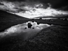 Mirror (Feldore) Tags: faroeislands faroe landscape water reflection clouds feldore mchugh em1 olympus 1240mm puddle bog cotton moody