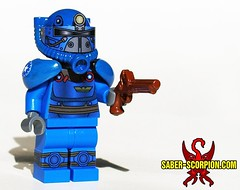 Patriot Blue Power Armor (Saber-Scorpion) Tags: lego minifigures minifigs minifig fallout fallout76 minifigure fallout4 powerarmor brickarms brickforge t51b