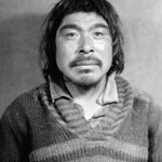 Man from Pingitkalik wearing a striped sweater, Melville Peninsula, Nunavut /  Homme de Pingitkalik vêtu d'un chandail rayé, presqu'île Melville (Nunavut) thumbnail