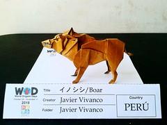 Jabalí/Boar Origami (J.V origami) Tags: jabalí boar origami javier vivanco ica peru