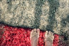 We owed up until the end (Melissa Maples) Tags: kemer turkey türkiye asia 土耳其 apple iphone iphonex cameraphone autumn qualistabeach qualista mediterranean sea water beach carpet red sand me melissa maples selfportrait woman barefoot feet shadow
