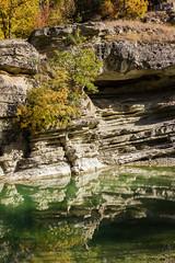 Among the Rocks (pap-x) Tags: canon nature greece 550d wild lake autumn kastoria river reflection aliakmonas nestorio rocks