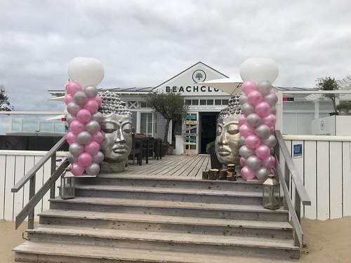 Ballonpilaar Breed Hart Beachclub8 Rockanje