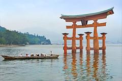 Le Torii dans la mer (Miyajima, Japon)