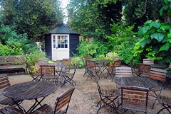Outside the Barn Café (zawtowers) Tags: standen house garden national trust property east grinstead sussex countryside beale family william morris art craft movement outside barn café table chairs relaxing summer
