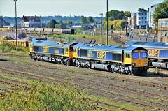 59003 & 66741 (stavioni) Tags: class66 shed class59 59003 66741 swanage railway gbrf gb railfreight diesel train locomotive