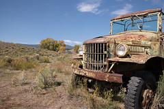 I Never Know Where I'm Going Until I Get There (And Then I'm Still Not Sure) (pmkelly) Tags: dodge elizabethtown ghosttown headlight newmexico rust truck