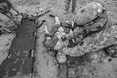 180928-Z-NI803-1441 (Matt Hecht) Tags: usa usarmy army nationalguard armynationalguard newjerseynationalguard newjerseyarmynationalguard njarng njng newjersey jbmdl jointbasemcguiredixlakehurst bct3 tccc tacticalcombatcasualtycare 63w combatmedic medic medicaltraining 187thmedicalbattalion mobiletrainingteam mtt military range training blackandwhite nj