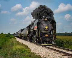 Iowan Summer (Elijah J. Jackson (EJ)) Tags: steamlocomotive steam smoke iowabolt iowainterstaterailroad iais6988 iais qj train railroad railroadphotography farm summer iowa