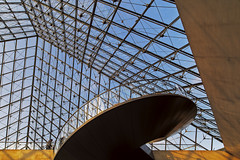 """Louvre from under the pyramid (""""Marco50"""" Marco Mattei) Tags: da fare piramide louvre museo vetri luce ngc"""