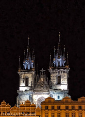 CHURCH OF OUR LADY BEFORE TYN (PHOTOGRAPHY|bydamanti) Tags: prague czechrepublic cz church nightshot churchofourladybeforetyn oldtownsquare oldtown europe iphonex