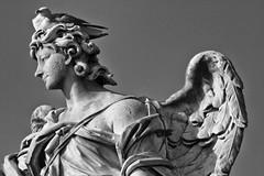 _7107658 (Marco Ambrosini Fotografo) Tags: statue angeli angels roma rome pontesantangelo wings ali uccelli birds piccioni gabbiani seagull pigeons religion religione blackandwhite biancoenero silhouette arte art storia history trip gita città city bridge ponte