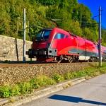 ÖBB railjet express train between Kufstein, Austria, and Kiefersfelden, Germany thumbnail