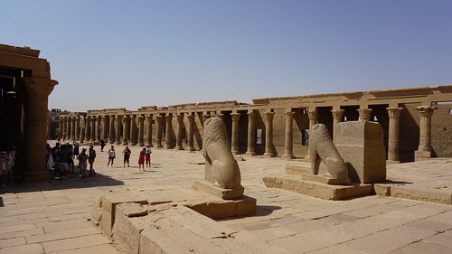 The Outer Courtyard, the Temple of Isis, Philae, Agilkia Island, Laker Nasser, Aswan, Egypt.