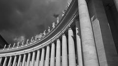 St. Peter's Square (mpb_17) Tags: rome vatican stpeter columns saints blackwhite stpeterssquare