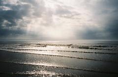Brean beach (knautia) Tags: brean somerset england uk october 2018 film ishootfilm olympus xa2 olympusxa2 kodak ektar 100iso nxa2roll81 daytrip seaside sea bristolchannel mist misty beach sky clouds