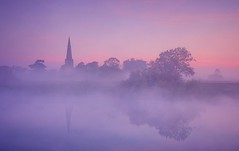 Dawn In A Dream (Captain Nikon) Tags: sawley derbyshire leicestershire rivertrent river mist misty magical allsaintschurch reflections moody atmospheric pastels dreamy england longeaton