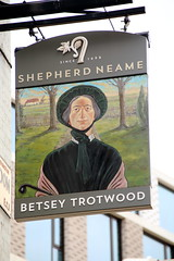 Pub sign for Betsey Trotwood, London EC1. (Peter Anthony Gorman) Tags: betseytrotwood shepherdneam londonpubs pubsigns