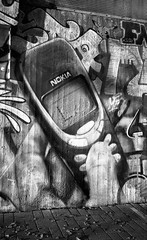 Those Were the Days (Foide) Tags: fomapan mural nokia pentax 3310