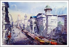 Izmir Turkey By Amit Kapoor, Watercolor Paintings (katalaynet) Tags: follow happy me fun photooftheday beautiful love friends