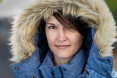 Jennifer [Stranger #100/100] (Vijay Britto Photography) Tags: hood jacket smile nosering look outdoorportraits naturallight tamron 70200mm 28 nikond750 d750 nikon 100strangers