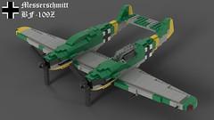Lego Messerschmitt Bf-109Z (Lt. SPAZ) Tags: lego messerschmitt bf109 me109 bf109z me109z north africa axis fighter luftwaffe wwii world war 2