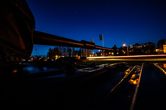Nighttank (Mange J) Tags: k5ii magnusjakobsson pentax sigma1020 sverige sweden värmland blue canon car clear highway lighttrails longexposure night pentaxart tank tower transportation