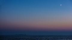 Dusk (tonyguest) Tags: dusk sea moon sunset water eneskär karlshamn blekinge sweden tonyguest calm scene