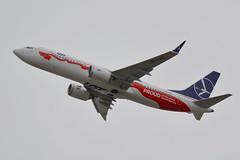 SP-LVD LOT Polish Boeing 737-8Max EGLL 22/8/18 (David K- IOM Pics) Tags: egll london heathrow airport lhr 27l departures stanwell sp splvd lot polish airlines boeing 737 737800 7378max b73m