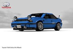 Toyota Celica T160 SX Liftback (1985) (lego911) Tags: toyota t160 cleica sx liftback 1986 3sge twincam coupe 1980s auto car moc model miniland lego lego911 ldd render cad povray japan japanese jdm biginjapan 35 35th build challenge lugnuts 11 11th anniversary birthday popupheadlamps