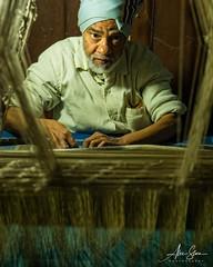 The Silk Weaver (Varanasi, India 2015) (Alex Stoen) Tags: 1dx alexstoen alexstoenphotography benares canon canoneos1dx culture ef2470mmf28lusm geotagged india silkweaver tradition travel vacation varanasi