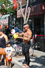 Epic son, Muscular dad (Can Pac Swire) Tags: toronto ontario canada canadian city cultural eastern european festival ethnic heritage roncesvalles polish 2018 man shirtless muscle dad mature guy muscular 2018aimg2263 avenue 123