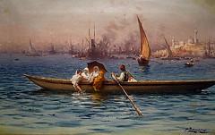 Istanbul : atmosphère orientaliste (skaradogan) Tags: bosphorus caique painting istanbul turkey peramuseum atmosphèreorientaliste faustosonado zonaro