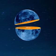 moon orange slice ciel (https://tinyurl.com/jsebouvi) Tags: moonandorange space sky speed slice piece blue orange top decoration art design
