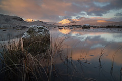 Sunrise Rannoch Moor (peterspencer49) Tags: peterspencer peterspencer49 sunrise scotland highlands rannochmoor reflections reflection moon uk