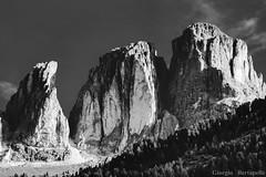 The Rock (giobertaskin) Tags: canoneos5dmklll canoneos canon bw artistic artistica sigma100300f4exdg sigma treppiede tripod lungafocale tele mountain dolomie dolomiten dolomite dolomiti sassolungo grohmann