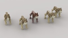 Packs of Epicyon Haydeni (demitriusgaouette9991) Tags: lego ldd animal iceage epicyon borophaginae