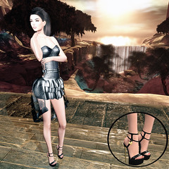 LuceMia - The Darkness Monthly Event (2018 SAFAS AWARD WINNER - Favorite Blogger - MISS ) Tags: thedarknessmonthleyevent marquesse arachnia black shoes as tara heels sl secondlife mesh fashion creations blog beauty hud colors models lucemia