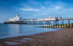 Morning reflections of Eastbourne Pier (BitRogue) Tags: 1635mm d800 eastbourne england nikon pier sea sunrise unitedkingdom gb long exposure
